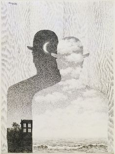Imagine that, a Thought which sees by Rene Magritte. Gift to MoMa NY by Mr and Mrs Charles Beneson. Magritte added striking textures to add visual complexity Conceptual Art, Surreal Art, Rene Magritte Kunst, Graphisches Design, Art Moderne, Art Plastique, Art History, Modern Art, Art Drawings