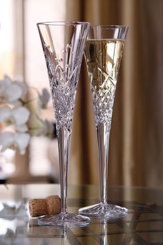 Champagne is even more delicious when served in a beautiful Waterford glass.  ~~ Houston Foodlovers Book Club
