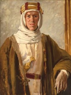 "Augustus John, ""Colonel T.E. Lawrence,"" 1919. https://www.facebook.com/pages/The-Roaring-20s-30s/217708824933132"