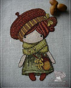 """#mika__mila_katya #crossstitch #cross_stitch #cross #stitch #stitches #вышивка #вышивкакрестом #magic__dolls  Как обещали вот и начало продолжения  Милая теплая осенняя Желудька  Вот что о ней написала автор отшива Оля Горлова - Этой осенью желуди просто преследую меня)))) Поэтому мимо этой Девочки я пройти не смогла!!!! Вышилась на одном дыхании!!! Особенно ее сумочка меня покорила!!! Закончила и подумала: Ну все! Это моя последняя Девочка! Хватит их вышивать!"""" А вы как думаете? Я…"""