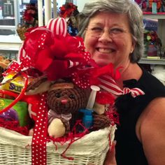 """Baskets 'ala Bows...my own designs! E mail for custom orders at basketsalabows@aol.com or call 512-826-1144. """"Touch the Hearts of some and the Lives of Many"""" with these gift baskets."""