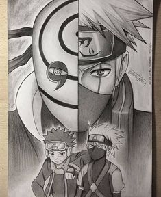 Obito Uchiha e Kakashi Hataki Naruto Shippuden Sasuke, Naruto Kakashi, Anime Naruto, Art Naruto, Naruto Sketch, Wallpaper Naruto Shippuden, Anime Sketch, Boruto, Kakashi Drawing