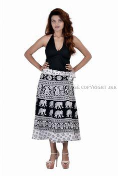 Skirt Women Rajasthani Print Wrape Around with Matching Beachwear Top Tank IWUS Cotton Skirt, Lace Skirt, Sequin Skirt, Indian Skirt, Wrap Around Skirt, Print Wrap, Printed Skirts, Designer Collection, Short Skirts