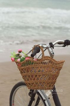 a morning ride at the beach