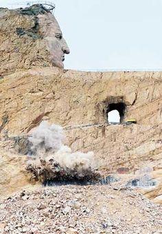 Crazy Horse Monument.  Black Hills of South Dakota - the end of an era