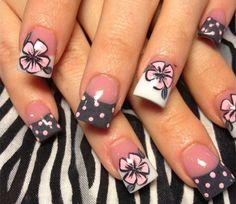 - Flower Nail Art Designs Galerie Neue 32 Flower Toe Nail Designs Nail Designs – Flower Nail Art D - Fancy Nails, Diy Nails, Cute Nails, Pretty Nails, Fabulous Nails, Gorgeous Nails, Nail Art Galleries, Nail Art Flower, Nail Art Designs