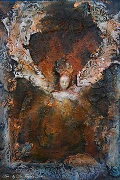 COMMISSION Earth Angel. Wall Sculpture by Fae by faefactory