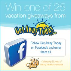 Win one of 25 Vacation Prizes from Get Away Today Get Away Today, Vacation Memories, Celebrities, Giveaways, Disneyland, Life, Celebs, Disney Resorts, Celebrity