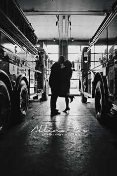 Engagement- Love- Firehouse- Firefighter- Firetruck- Silhouette- Kiss- Central Kentucky Photographer Specializing in Wedding & Engagements as well as Seniors & Family Photography. http://allenacoxphotography.com