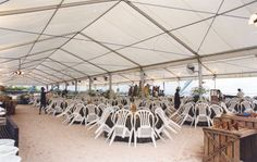Giant Tents at The Beach