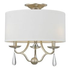 CrystoramaLighting | Manning - Three Light Flush Mount. I am liking this for my small eat-in kitchen.
