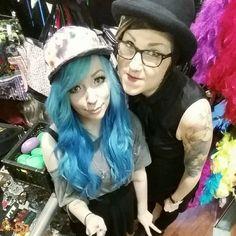 Hats ♡ #hat #snapback #cap #bowler #galaxy #bluehair #turquoisehair #mermaidhair #ombrehair #hairextensions #curlyhair #vintagehair #pixiehair #tattoo #tattooedgirls #ink #inkedgirls #piercings #piercedgirls #septum #angelbites #selfiestick #cybershop #cybershopkamppi #kamppi Septum, Piercings, Snapback Cap, Galaxy, Tattoo, Photo And Video, Hats, Instagram, Fashion