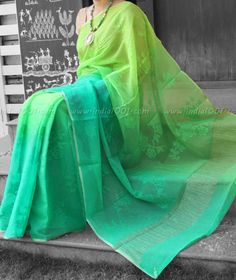 Designer Pure Chiffon Saree with Embroidery