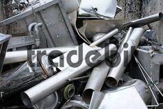 aluminium parts in the scrapyard