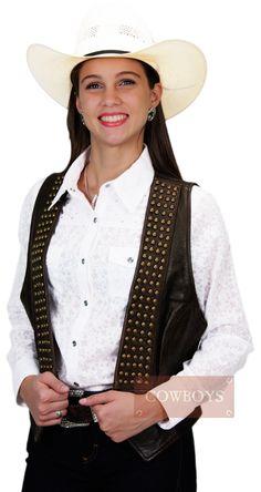 colete em couro stetson p9056 - Busca na Loja Cowboys - Moda Country 6adaed14e9d