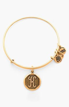 Alex and Ani 'Initial' Adjustable Wire Bangle available at initials. Cute Jewelry, Jewelry Box, Jewelry Accessories, Fashion Accessories, Jewelry Gifts, Alex And Ani Bangles, Diamond Are A Girls Best Friend, Just For You, Bling