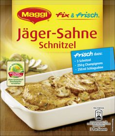 Maggi fix Kräuter-Rahm-Schnitzel 42g (Schnitzel w/ Herbs Sauce 1.5 ... | {Maggi fix 95}