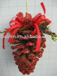 natural xmas packaging | Natural Christmas Tree Pine Cone Decoration - Buy Christmas Pine Cone ...