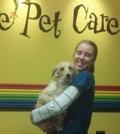 Katie is one of our Registered Veterinary Technicians. She is holding Charlize here:)