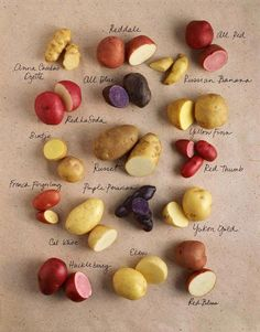 How many types of potatoes are there? There are over 200 varieties of potatoes. Potatoes USA, the authority on potatoes, reference guide to potato types. Fruit And Veg, Fruits And Veggies, Grow Potatoes In Container, Planting Potatoes, Potato Varieties, Types Of Potatoes, Potato Types, Potatoes Au Gratin, Mashed Potatoes