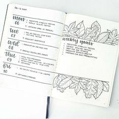"""141 Me gusta, 5 comentarios - Bullet Journal and Planners (@discoverbulletjournal_planners) en Instagram: """"Love this weekly spread! Repost from @bonjournal_ - My week ahead!!  #bulletjournalweeklylog…"""""""