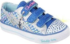 Skechers Girls' Twinkle Toes Shuffles Star Shock Sneaker,Royal/Silver,US 4 M - http://all-shoes-online.com/skechers-3/skechers-kids-twinkle-toes-prolifics-light-up-kid-344