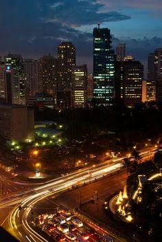 Awesome night view of Makati City, Metro Manila, Philippines Bohol, Palawan, Regions Of The Philippines, Manila Philippines, Philippines Travel, Quezon City, Makati City, Cebu, Davao