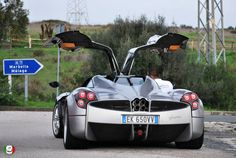 The Pagani Huayra is an Italian mid-engined #sports #car produced by Pagani. Succeeding the company's previous offering, the Zonda, it will cost over a million dollars (base price).