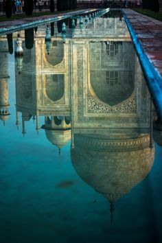 Reflections of the Taj Mahal - Trip to Golden Triangle of India Agra, Monuments, Places Around The World, Around The Worlds, Beautiful World, Beautiful Places, Le Taj Mahal, Reflection Photography, Islamic Architecture