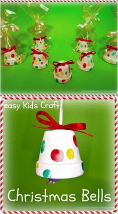 20 DIY Clay Pot Christmas Decorations That Add Charm To Your Holiday Décor Adorable DIY Christmas Bells around the world crafts for kids Kids Christmas Ornaments, Easy Christmas Crafts, Handmade Christmas, Christmas Bells, Christmas Clay, Christmas Crafts For Toddlers, Christmas Crafts For Kids To Make Toddlers, Cute Christmas Ideas, Preschool Christmas Activities