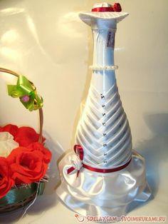 Бутылки для шампанского на свадьбу мастер класс