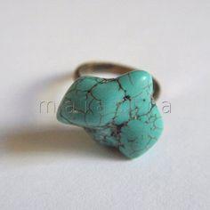 anillo turquesa de maiastra  //  turquiose ring by maiastra