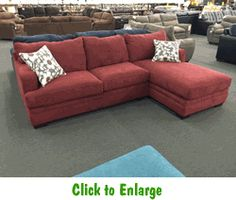 Caprice Mulberry 2-Piece Sectional by Simmons at Furniture Warehouse | The $399 Sofa Store : simmons 2 piece sectional - Sectionals, Sofas & Couches