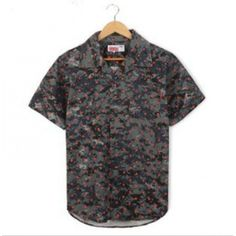 Supreme, Streetwear, Button Up Shirts, Camo, Men Casual, Buttons, Street Style, Gray, Mens Tops