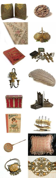 Thursday's Tempting Trinkets  by Betty J. Powell on Etsy--Pinned+with+TreasuryPin.com Vintage Vogue Fashion, Home Interior Design, Vintage Antiques, Place Card Holders, Vertigo, Small Businesses, Gifts, Gift Ideas, Inspiration