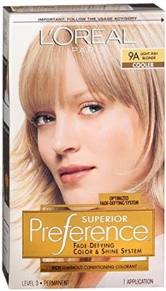 LOreal Superior Preference  9A Light Ash Blonde Cooler 1 Each Pack of 2 * Click image for more details.
