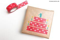 DIY Geschenkverpackung mit Washi Tape // DIY Gift Wrapping with Washi Tape