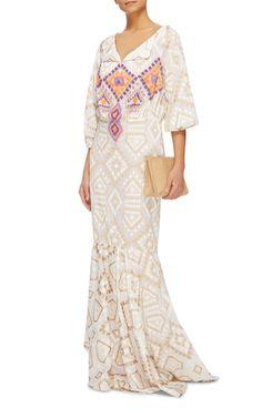 Royal Mosaic Embellished Dress by Johanna Ortiz | Moda Operandi