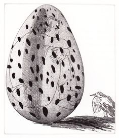 'The boy hidden in an egg' (The Little Sea Hare)  David Hockney Illustrates the Fairy Tales of the Brothers Grimm | Brain Pickings