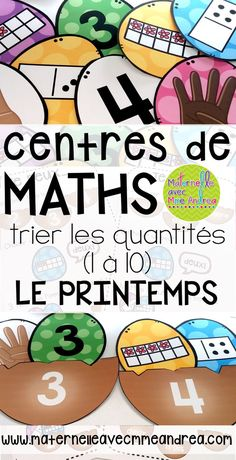 Les centres de mathématiques - le printemps - this fun math centre will keep your students engaged while they fill each nest with the correct eggs! Great for developing number sense