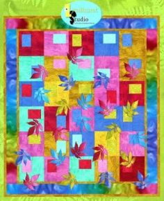 """Nature's Palette pattern by Michele Scott author of """"Bobbin Quiltin' and Fusin' Fun."""""""