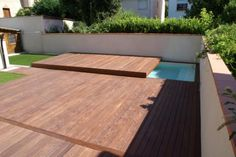 terrasse bois lamellé collé piscine