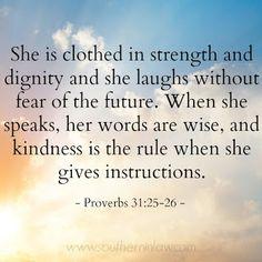 Proverbs 31:25-26