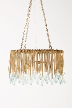 Tallis Teardrop Chandelier by Anthropologie in Gold, Lighting Diy Luminaire, Twisted Metal, Boho Diy, Chandelier Lighting, Chandelier Ideas, Chandeliers, Lamp Shades, Home Lighting, Unique Lighting