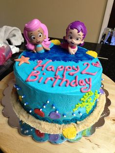 Bubble Guppies bday cake