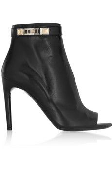 Proenza Schouler Leather peep-toe ankle boots | NET-A-PORTER