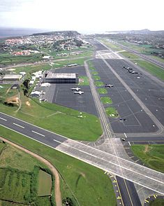 Lajes Air Force Base in the Azores. I use to fly in and out of here when I worked for ATA Airlines.