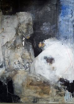 carolakastman,oil,mixedmedia,artist,artoncanvas,largeformatr, I really like her way of working, paintings based on collage. Just suggesting form. Love it!