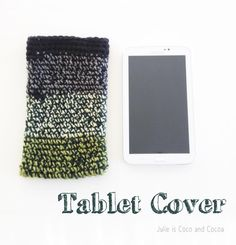 Color block Crochet Tablet Cover pattern. Keep your tablet safe in cozy tablet cover.