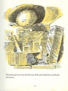 The Little Girl And The Tiny Doll Edward Ardizzone Edward Ardizzone, British Books, British Traditions, Edmund Dulac, Magazine Illustration, Book And Magazine, Tiny Dolls, Children's Books, Ephemera